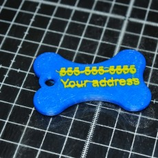 Picture of print of Simple Pet tag