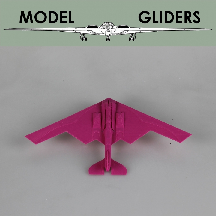 B2 Stealth Bomber Glider (Improved Flight) Powered by an Elastic Band