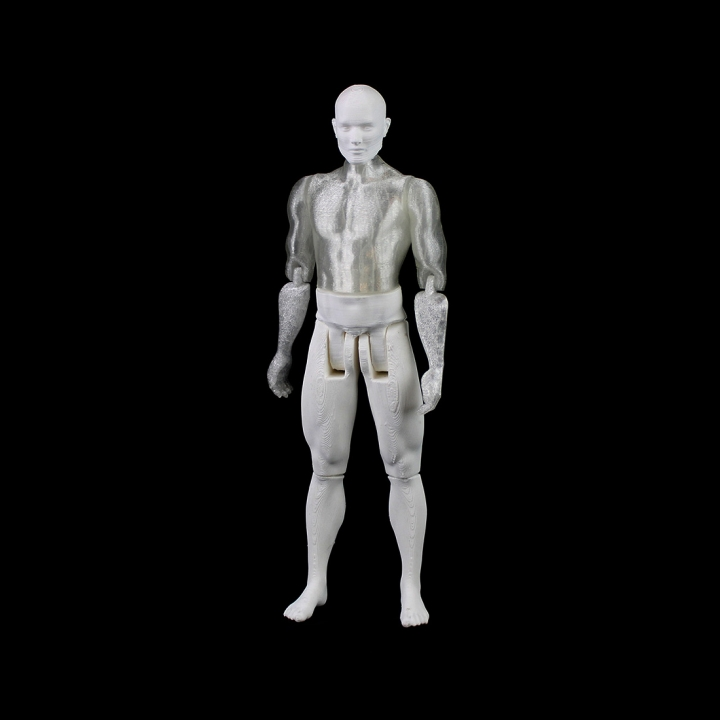 3D Printable Male Articulated Figure - Print in Place & Support Free