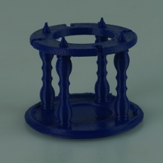 Bottle stand with chalice holders