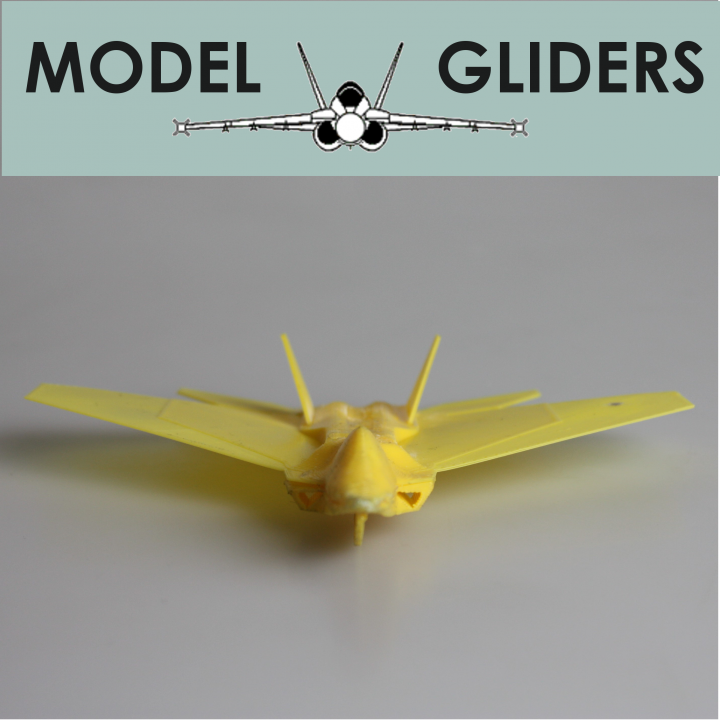 F18 Hornet Flying Glider Powered by an Elastic Band