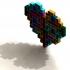 Tetris parts planters set print image