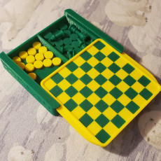 Picture of print of Mini-Mate travel chess set
