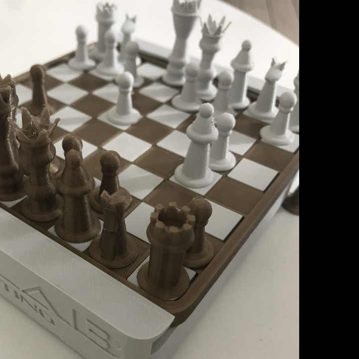 Picture of print of Mini-Mate travel chess set This print has been uploaded by Emil Willumsen