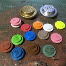 Lego Style Coin, Light, Circle ETC....