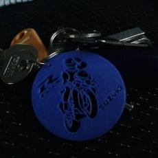 Pendant necklace or keychain Suzuki GSXR biker