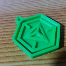 Picture of print of Ingress Logo Keychain