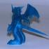 Ex Veemon Anime Character Scuilpt 3d Action Figure Statue image