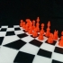 Three player chess board set and puzzle image