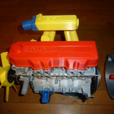 Picture of print of Complete working model, 4 cylinder engine, transmission, and transfer case. Educational Toy