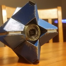 Picture of print of Destiny Ghost (SMALL) Fully Detailed Model, LED Illuminated, Fully printable without supports!