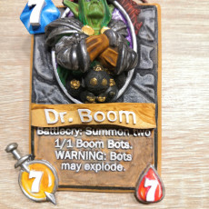Picture of print of Dr. Boom Card from Hearthstone