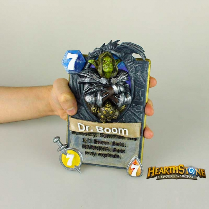 3d Printable Dr Boom Card From Hearthstone By 3dna