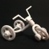 Tricycle (moving wheels and handle) image