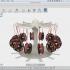Mini filament spool and earring carousel stand image