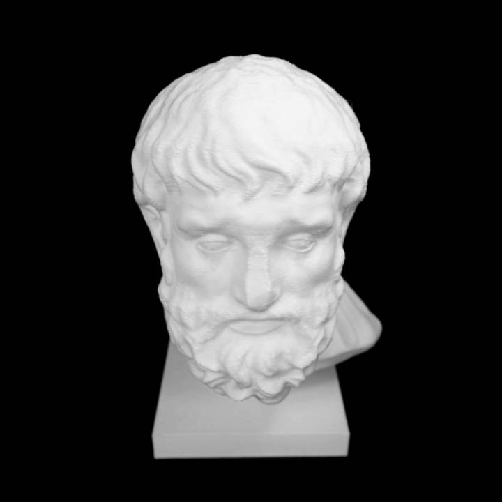 Marble Head of Epikourus at The Metropolitan Museum of Art, New York