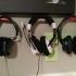 Minimal Headphone wall mount (tack) image