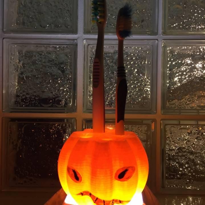 Pumpkin Toothbrush Holder