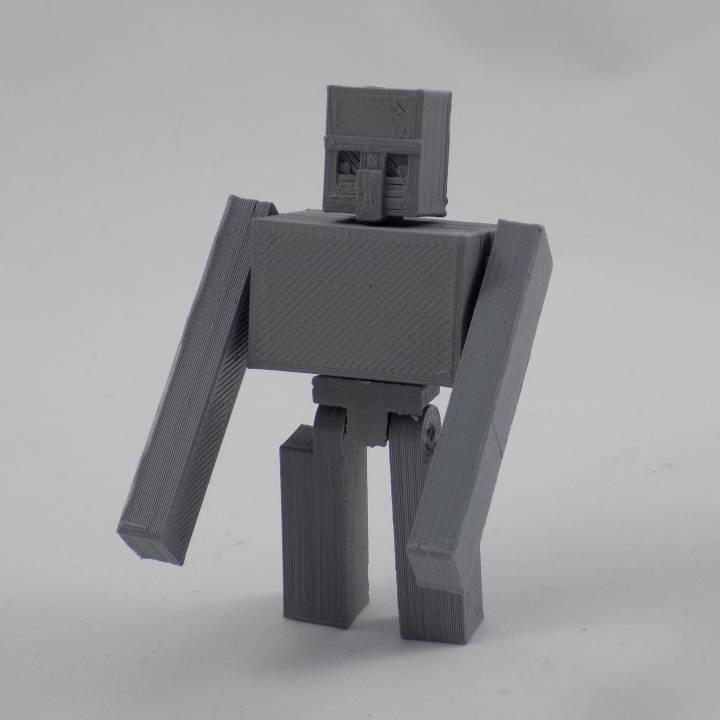 3D Printable Minecraft - Iron Golem by Matt Lothe
