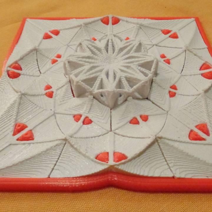 Muladhar-art collection. Square-Mandala