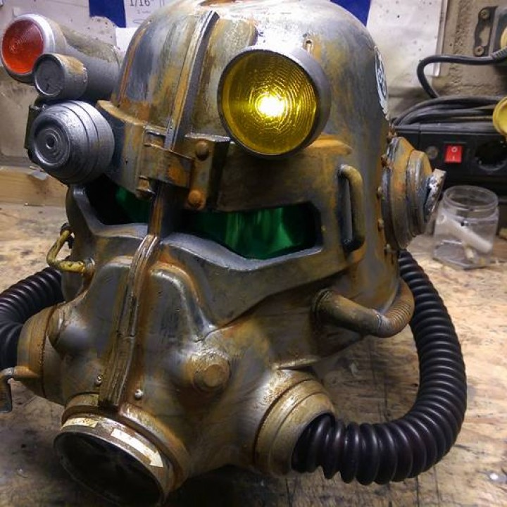 Picture of print of Fallout 3 - T45-d Power Armour Helmet This print has been uploaded by Tie Kai