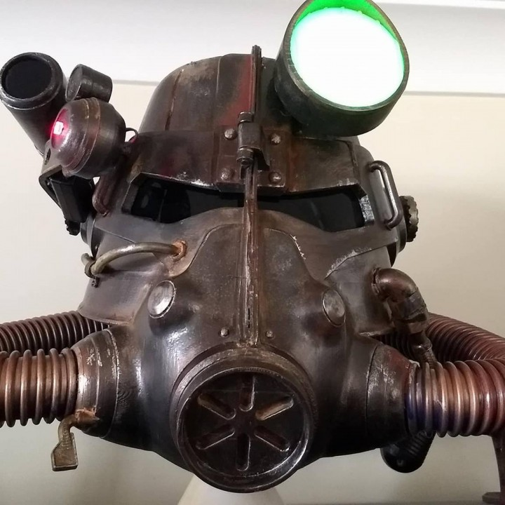 Picture of print of Fallout 3 - T45-d Power Armour Helmet This print has been uploaded by Russell