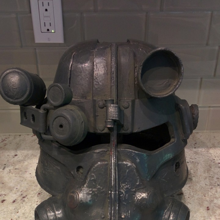 Picture of print of Fallout 3 - T45-d Power Armour Helmet This print has been uploaded by Bret Stastny