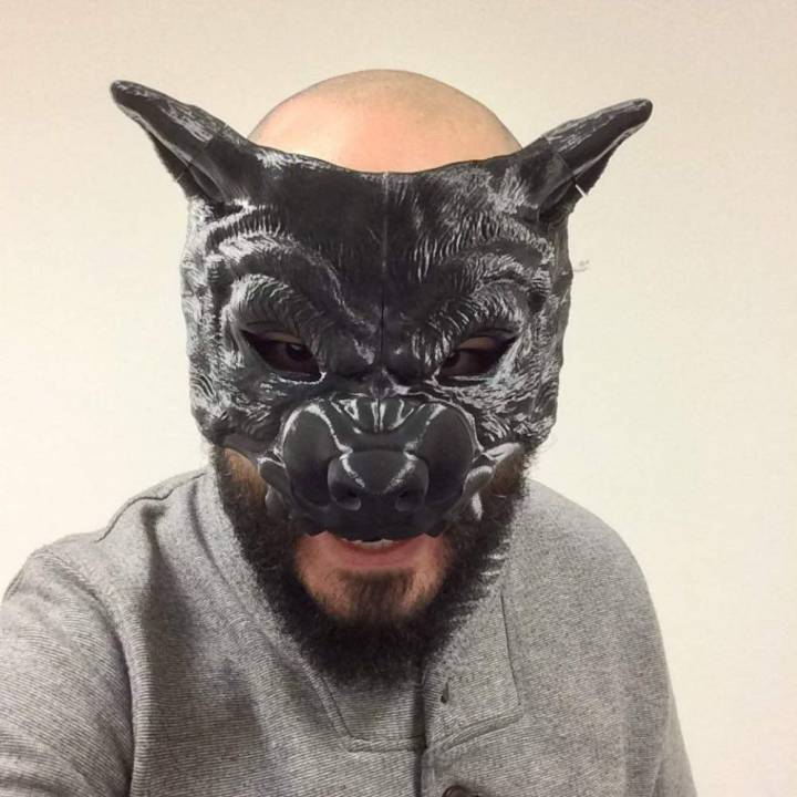 photograph relating to Printable Wolf Mask identify 3D Printable WOLF MASK by way of Ricardo Salomao