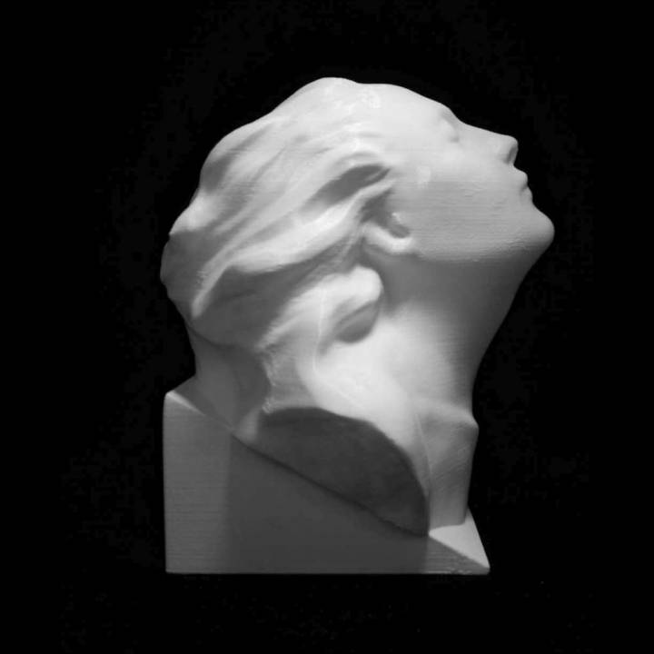 Bust of Eleonora Duse at The Gallery of Modern Art of the Palazzo Pitti in Florence, Italy