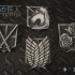 Attack on Titan - Shingeki no Kyojin - Military Emblem Badges print image