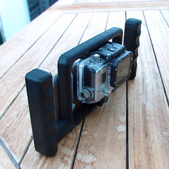 GoPro Big Handle with mobile telephone support