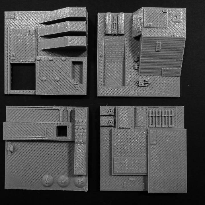 3D Printable Death Star Tiles set 4 & 5 by Israel Melendez