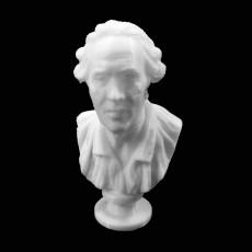 Self Portrait of Jean-Baptiste Pigalle at The Louvre, Paris