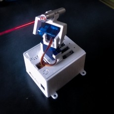 Portable remotely controlled LASER POINTER