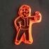 Vault boy cookie cutter image