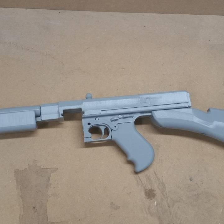 3D Printable Thompson 1928 Sub-Machine Gun - Functional