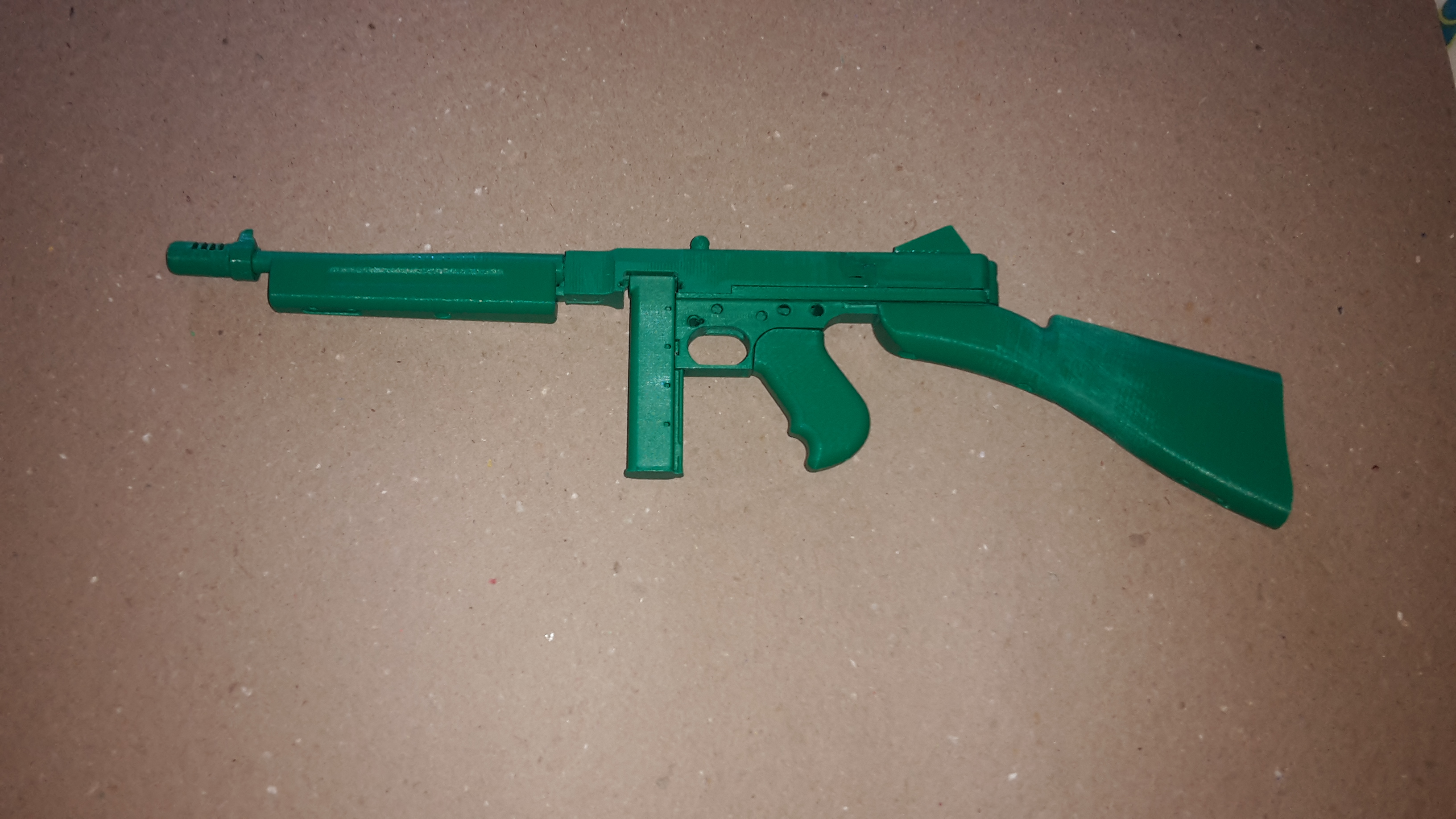 3D Printable Thompson 1928 Sub-Machine Gun - Functional Assembly by