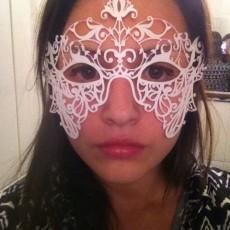 Lace pattern mask