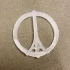 """Pray for Paris"" Ornament/Keytag image"