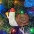 Christmas Waving Snail! image