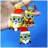 Minions Keychain / Magnets -Christmas cute version primary image
