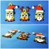 Minions Keychain / Magnets -Christmas cute version image