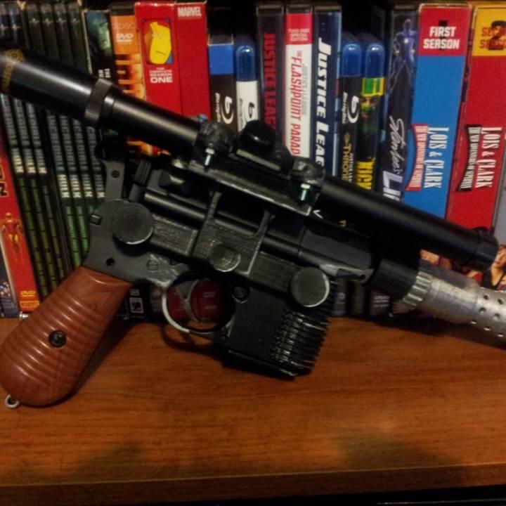Han Solo DL-44 inspired Hero Blaster