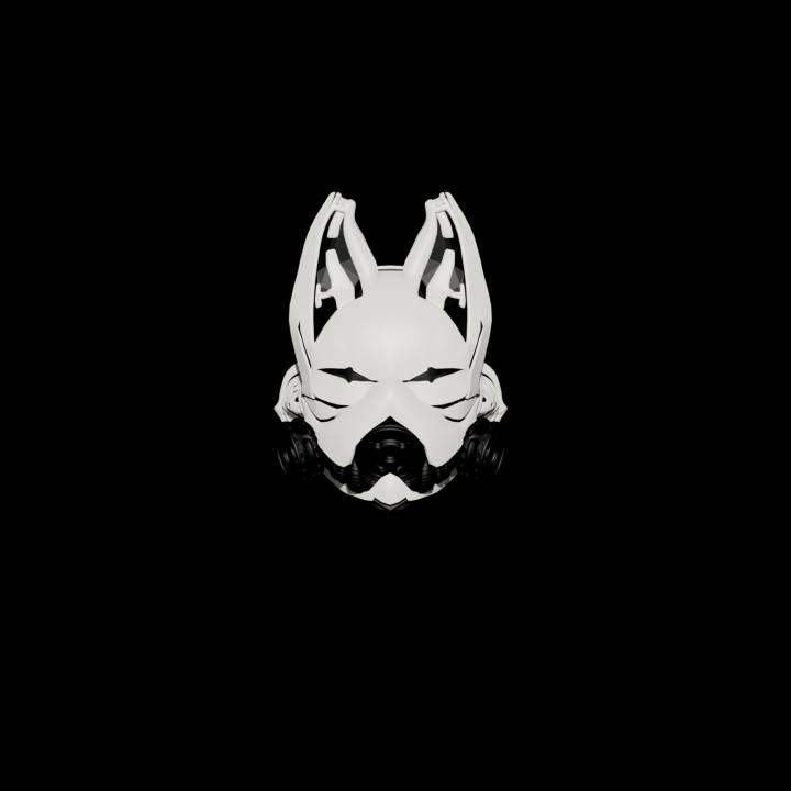 This is a picture of Fox Mask Printable intended for kinky fox