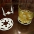 Star Wars Empire coasters with TIE Interceptor base image