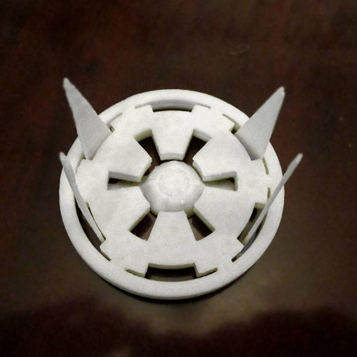 Star Wars Empire coasters with TIE Interceptor base