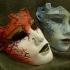 Venetian mask print image