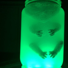 Picture of print of Alien Baby Inside A Jar