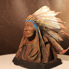 Picture of print of Chief Black Bird From the Rees-Jones Collection at Amon Carter Museum, Fort Worth