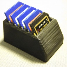 Picture of print of SD box for shoring SD card
